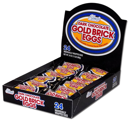 Dark Chocolate Gold Brick Eggs 24ct